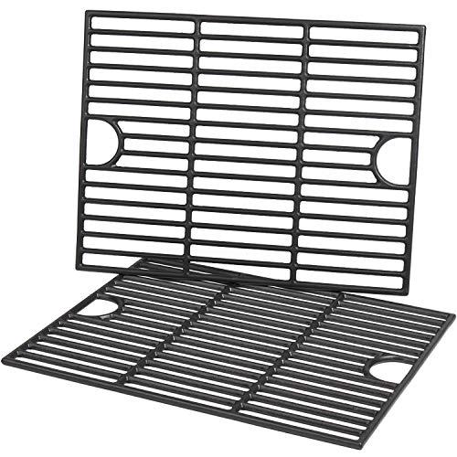 Cast Iron Grill Grates for Nexgrill 4-5 Burner Grills, 720-0830H, 720-0783E, 720-0697, 720-0888, 17 x 13 1 4 Inch,2 Pack