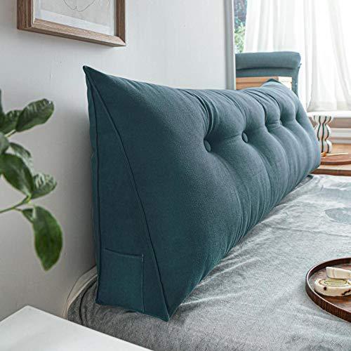YLBH Cojín de cabecera triángulo cojín cama grande respaldo cintura cojín sofá dormitorio estudiante Tatami paquete suave extraíble y lavable 120 x 50 x 20 cm de altura