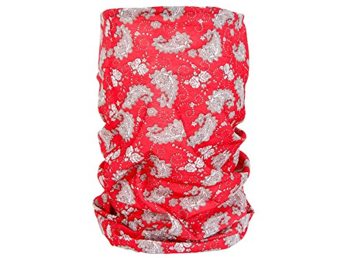 Foulard Fazzoletto Da Collo Sciarpa Funzionale Multiuso Scaldacollo Tubolare Leggero E Morbido Estate Primavera Autunno Inverno Loop Anello Ragazze Colorati Stola Accessorio Moderno Lifestyle, Multituch MF-174-221:MF-194 Paisley Rosso