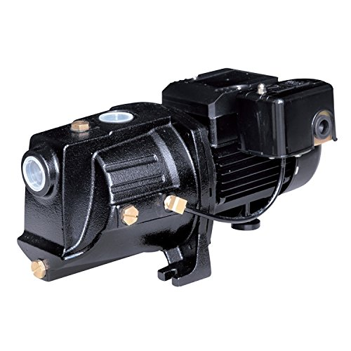 Acquaer SJC050 1/2 HP Dual-Voltage Cast Iron Shallow Well Jet Pump, Black