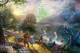 XYDH Puzzle de Madera de 500 Piezas para Adultos Película El Mago De Oz Rompecabezas de Madera Real con 500 Piezas para Adultos y familias/52 * 38CM