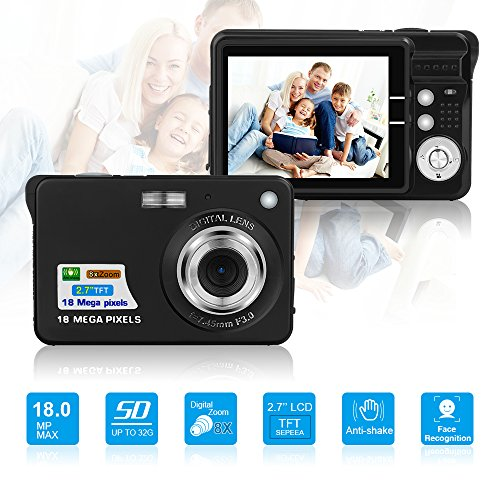 HD Mini Digital CamerasPoint and Shoot Digital Cameras for Kids TeenagersTravelCampingGifts