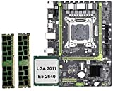 KASILU Dlb0216 X79 M2 LGA2011 Conjunto de Combo de Placa Base con E5-2640 CPU 2x8GB 16GB DDR3 RAM 2-CH 1600MHz ECC Reg NVME M.2 SSD Slot Alto Rendimiento