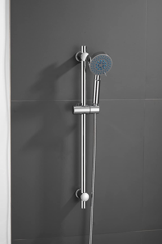Adjustable Chrome Bathroom Shower Head In stock Bracket Holder Riser Mail order cheap Rail