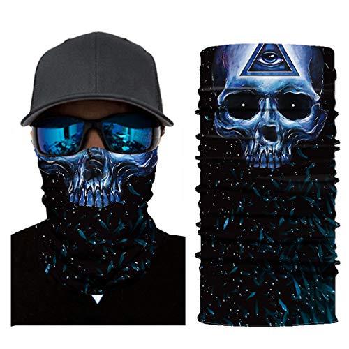 QingJiu Multifunktionstuch Nahtloses Halstuch Schlauchtuch 3D Kopftuch Stirnband Motorrad Bandana Outdoor UV Staubschutz Face Scarf für Staub,Wandern, Reiten, Motorradfahren