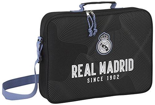 Real Madrid - Bolso Bandolero, 38 cm, Negro