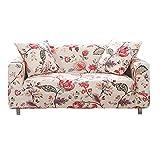 Hotniu Funda Sofa Elasticas 1 Plaza Funda Sillon Ajustables Fundas de Sofa Individual Fundas Decorativa para Sofá Estampadas Impresa Cubre Sofa con 1 Funda de Cojín, Modelo #Qan