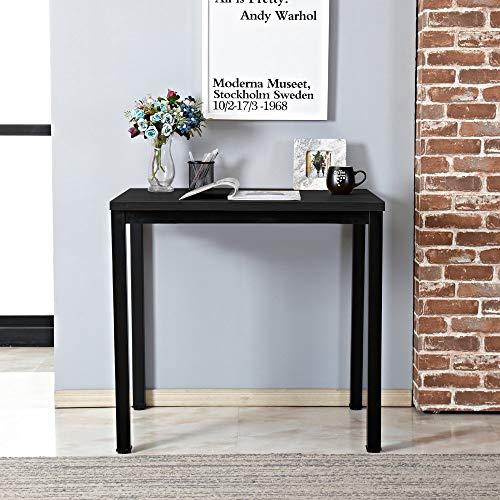 SogesHome Mesa pequeña para ordenador de 80 x 40 cm, mesa compacta, escritorio de esquina para casa, oficina, pequeño escritorio, mesa infantil, color negro SH-LD-AC80BW