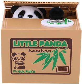 GHTYN Panda Alcancía, Banco De Perros Dibujos Animados Panda Ladrón Piggy Banco Juguete Automático Robar Moneda Banco Moneda Moneda Ranura Niños Regalo Juguete, Banco De Perros 1/1