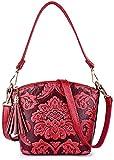 HAYEDF Bolso del bolso de las mujeres Mujeres Shell mensajero del bolso de cuero estilo de las mujeres de alto nivel chino de la PU,0,rojo