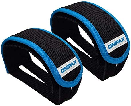 ONIPAX Outdoor Bike Pedal Straps Pedal Toe Clips Straps Tape 2 Pieces Blue product image