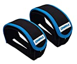 ONIPAX Outdoor Bike Pedal Straps Pedal Toe Clips Straps Tape 2 Pieces (Blue)