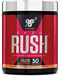 BSN Endorush Pre Workout Powder, Energy Supplement for Men and Women, 300mg of Caffeine, with Beta-A