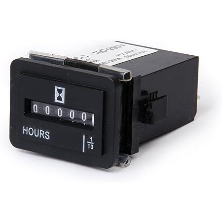 Sharplace Ac 100 250v Digital Betriebsstundenzähler Stundenzähler Zeitzähler Mit Lcd Anzeige Auto