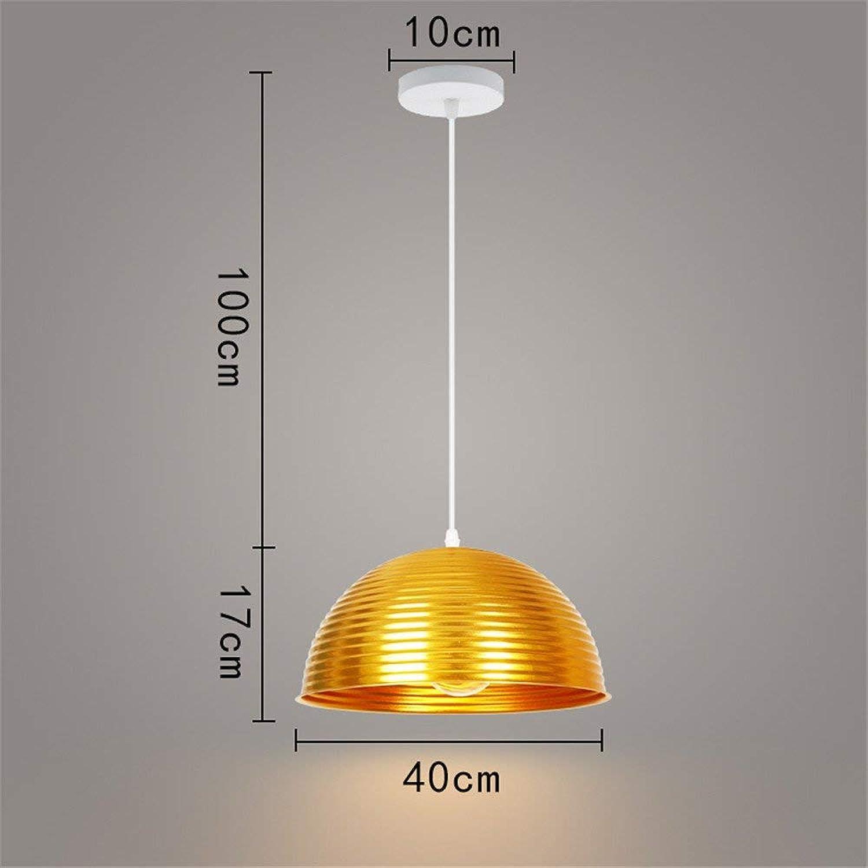 Einfache Moderne Goldene Single Head Creative Semi-Circular Retro 40 Cm Decke Pendelleuchte Für Bar Cafe Restaurant Schlafzimmer Wohnzimmer Esszimmer Küche