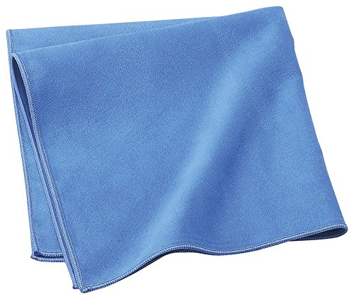 Extra Large (16x16inch) Thick Soft Suede Microfiber Glasses Cleaning Cloth Super-Clean-DX Blue ( for Glass, Camera Lenses, Phones, Tablets, Screens, car wash and Other Delicate Surfaces
