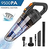 HONITURE Handheld Vacuum Cleaner Cordless,Rechargeable Handheld Hoover,Powerful Cyclone Suction 9.5KPA,3H Charge,Portable Hand Held