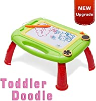LODBY Toddler Toys for 1-3 Year Old Girl Gifts - Toddler Magnetic Doodle Drawing Board for Kids