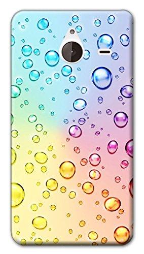 Mixroom - Cover Custodia Case in TPU Silicone Morbida per Nokia Lumia 640 XL Z420 Bollicine Multicolore