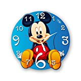 Mickey Mouse 11'' Handmade Wall Clock - Get Unique décor for Home or Office – Best Gift Ideas for Kids, Friends, Parents and Your Soul Mates