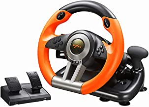 PXNV3II PC Racing Wheel, 180 Degree Universal Usb Car Racing Game Steering Wheel with Pedal for Windows PC, PS3, PS4, Xbox...