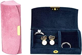 Afzos Travel Jewelry Case, Small Jewelry Box, Necklace Organizer Earing Holder Organizer (Pink)