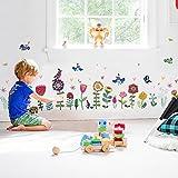 WandSticker4U®- Fensterbilder Kinderzimmer Bunte BLÜMCHEN