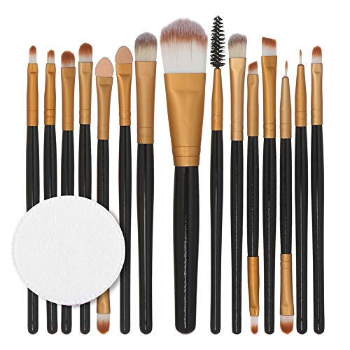 15 Ensembles De Tampons De Coton Avec Manche En Bois Rawdah 15pcs/set Makeup Brush Set tools Make-up Toiletry Kit Wool Make Up Brush Set