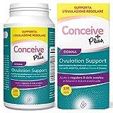 Conceive Plus Ovulation Support, Supporto per policistico e Ovulazione, Myo-Inositolo e D-Chiro-Inositolo, 120 capsule