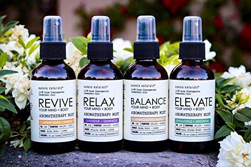 Eunoia Naturals Relax- Lavender Pillow Spray, Lavender + Chamomile Sleep Mist, Lavender Calming Essential Oil, Free 30 Minute Sleep Audio, Lavender Spray for Sleep, Lavender Relaxing Spray, 4oz Glass