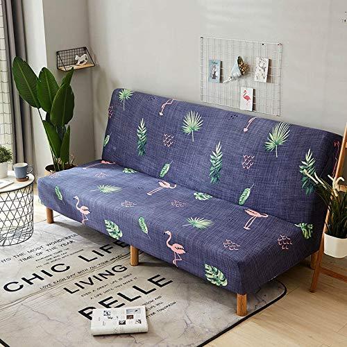 Zzyx Estiramiento Sofá Cama Cubierta Sin Apoyabrazos Abatible Sofá Cubierta De La Sala Principal Decoración Interior Y Exterior De Muebles Cómodos (Color : Color 19, Size : 160-190cm)
