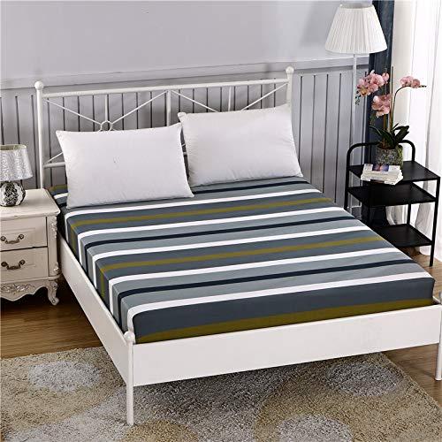 1 funda de colchón de 100% algodón, diseño de dibujos animados, cuatro esquinas con banda elástica para cama de hotel (color: 7, tamaño: 180 x 200 x 25 cm)