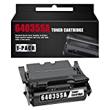 64035SA (21,000 Pages) 1 Pack Remanufactured Black Toner Cartridge Replacement for Lexmark T640 T640dn T640dtn T640N T640tn T642 T642dtn T642n T642tn T64 T644dtn Printer.