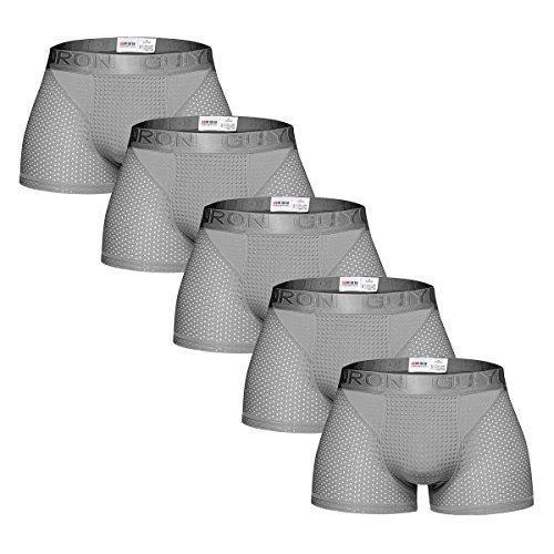 MODCHOK Herren Unterhose Unterwäsche Briefs Shorts Boxershorts Magnettherapie Atmungsaktiv 5er Pack