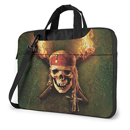 Pirates of The Caribbean Laptop Sleeve Case Protective One Shoulder Shockproof Handheld Case/Notebook Computer Pocket Case/Tablet Briefcase Carrying Bag/Soft Carrying Zipper Bag-15.6 inch