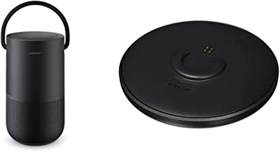 Altavoz inteligente portátil Bose con control de voz Alexa integrado, negro y SoundLink giratorio de carga negro