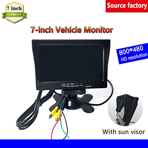 Best Buy! HYFMDVR 7-inch Display with Sun Visor Local Video Surveillance for Buses Truck dvr Auxilia...