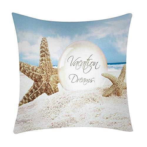 Mamum - Couverture de Coussin de Voiture de Sofa de Polyester de taie d'oreiller d'impression de mer décor à la Maison (B)