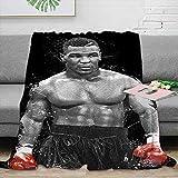 Coobal Manta de forro polar para deportes Pop Art de Mike Tyson de microfibra, muy suave para adultos y niños