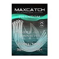 M MAXIMUMCATCH Maxcatch 編組ループコネクタ フライフィッシングライン用 30/50lb 10枚入り (クリア, 30lb)