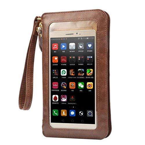 Funda de Piel sintética con Tapa para Samsung Galaxy S8 Plus, LG G6, Motorola Moto G5 Plus, Huawei P10 Plus, BLU R1 Plus