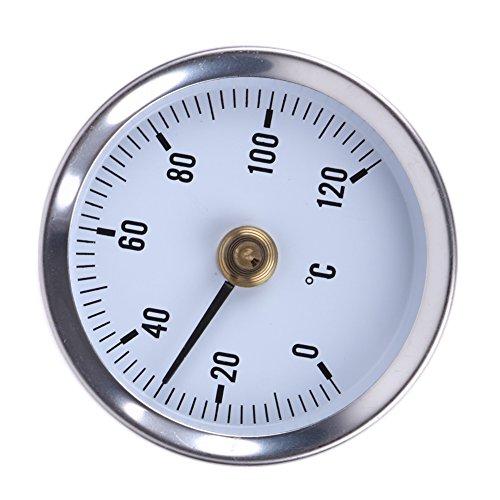 Domybest thermometer, 0-120 °, oppervlakthermometer, type veerklem, roestvrij stalen buis, bi-metallic