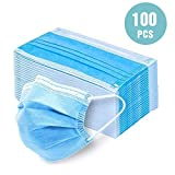 100Pcs Disposable 3-Layer Masks, Anti Dust Breathable Disposable Earloop Mouth Face Mask, Comfortable Surgical mask