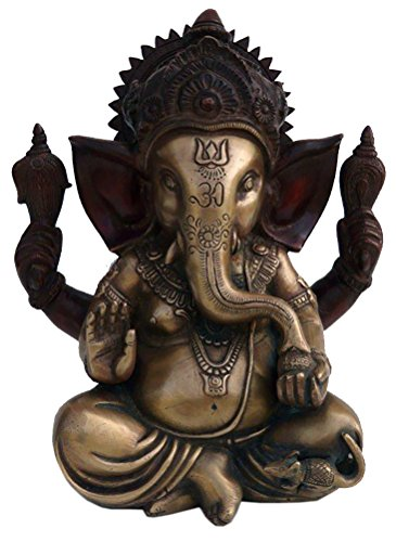 Ganesha Skulptur aus Messing - Höhe 23 cm - 5,50 kg