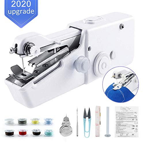 Pet Clothes Cloth Clothes Quick Repairing Suitable for Home Travel Curtain Mini Handheld Sewing Machine Portable Electric Small Sewing Machine Kit for Beginner