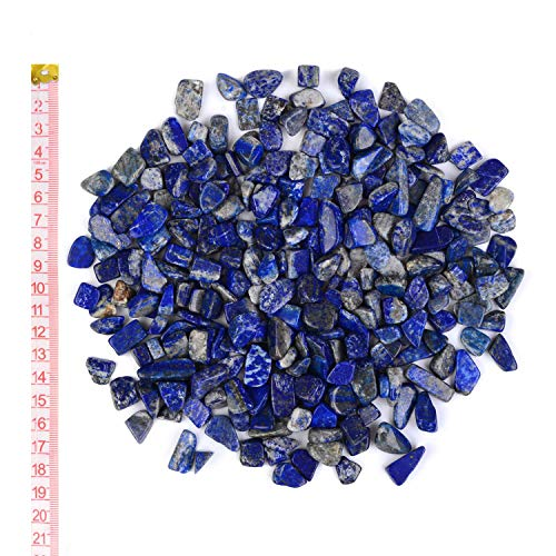 Georgie Porgy Decorazione Gravel Rocks Crystal Ciottoli Pietra Frantumata Aquarium Ghiaia per Acquario Home Garden Regali (Lapislazzuli 9-12mm 0.95pound)