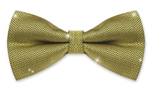 Autiga ® Fliege Herren Hochzeit Konfirmation Anzug Smoking Schleife Schlips Glitzer Glitter gold