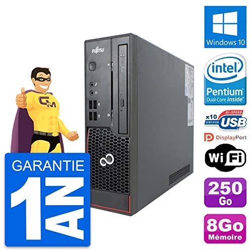 Fujitsu Mini-PC Esprimo C720 SFF G3220 RAM 8 GB Festplatte 250 GB Windows 10 WiFi (überholt)