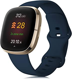 findway Bands Compatible with Fitbit Versa 3/Fitbit Versa Sense for Women and Men, Durable Silicone Watch Strap, Adjustabl...