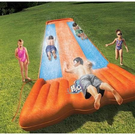 H2O Go Triple Slider Kids Outdoor 3-Person Water Slide | 52200E ( AGES 5-12 )